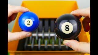 WHAT HAPPENS IF YOU DROP BILLIARD BALL INTO THE SHREDDING MACHINE?