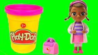 Doc McStuffins Play Doh Cartoons ❤ Dra Juguetes ❤ Frozen Elsa Stop Motion  Movies