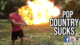Blowing Up a Luke Bryan CD: How to listen to a Luke Bryan CD with Uncle Rob