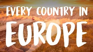 45 Countries of Europe in 215 Seconds
