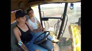 Mulheres na colheita de soja