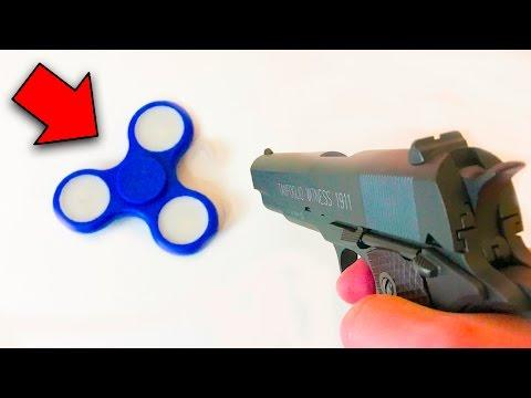 GUN VS FIDGET SPINNER (Experiment)