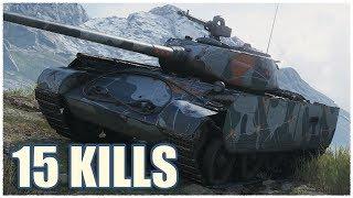 T-44-100 (R) • 15 KILLS • WoT Gameplay