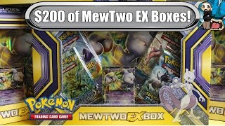 Opening 10x MewTwo Ex Boxes! - New 2016 ones! - Pokemon TCG unboxing
