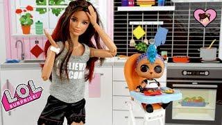 Barbie Sister Babysits L.O.L Surprise Punk Boi & He Gets Lost!