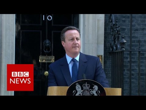 watch Brexit: David Cameron resigns as UK votes to leave - BBC News