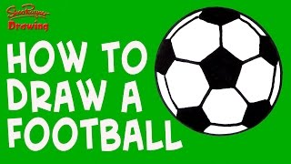 How to draw a Soccer Ball  - Easy Drawing for kids and beginners
