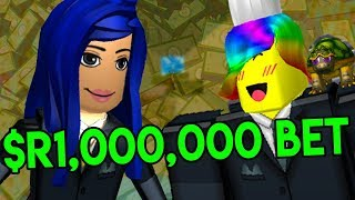 I BET ITSFUNNEH 1 MILLION ROBUX SHE CAN