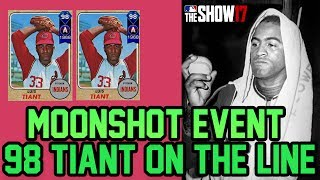 98 Overall Luis Tiant ON THE LINE! [MOONSHOT EVENT] MLB The Show 17 Diamond Dynasty