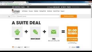 Setting Up/Purchasing A Domain Name on GoDaddy