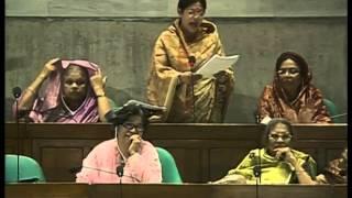 Apu Ukil giving speech at Parliament