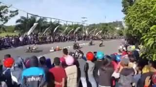 KECELAKAAN MAUT ROAD RACE TARAKAN 2016
