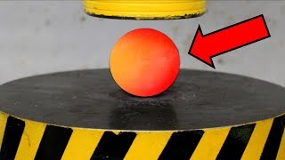 EXPERIMENT Glowing 1000 degree METAL BALL vs HYDRAULIC PRESS 100 TON