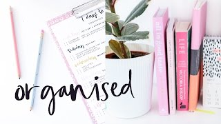 7 Days To Organised | Organise Your Life in Only 7 days & Free Printable!