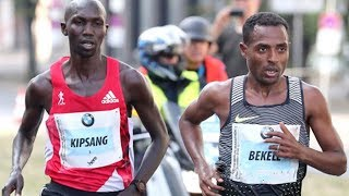 Kenenisa Bekele vs Wilson Kipsang incredible duel at BMW Berlin Marathon 2016