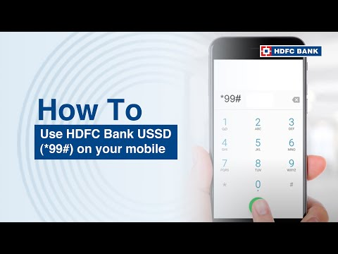 How to use HDFC Bank USSD (*99#)