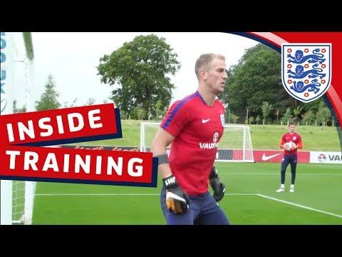 Xxx Mp4 England Goalkeeping Session With Hart Butland Heaton And Woodman Inside Training 3gp Sex