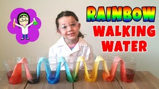 Rainbow Walking Water Easy Science Projects Experiments for Kids | The Science Kid