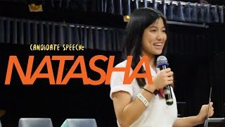 Candidate Speech - Natasha