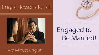 Talking About Marriage in English - Simple Way to Learn English - Improve Your English Quickly