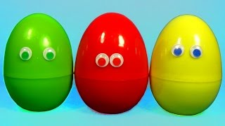 3 surprise eggs with FUNNY TOYS Super Eggs Surprise for Kids for BABY MymillionTVS