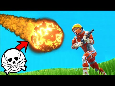 What Happens If A METEOR HITS YOU in Fortnite Battle Royale