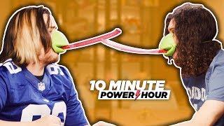 WEIRD BOARD GAMES: Tic Tac Tongue + Yeti Set Go!! - Ten Minute Power Hour