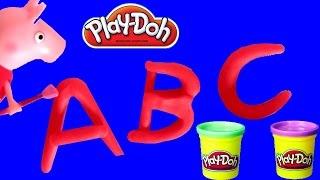 Peppa Pig Ensina o ABC Alfabeto usando Play-Doh em Português BR do TOYSBR - Learn ABC Play Doh