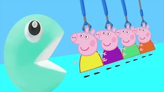 Learning Colors with Peppa Pig 3D Pacman  | Fun Learning Colors For Children Video for kids
