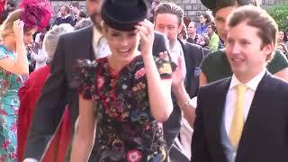 Singers Ellie Goulding and James Blunt arrive at royal wedding