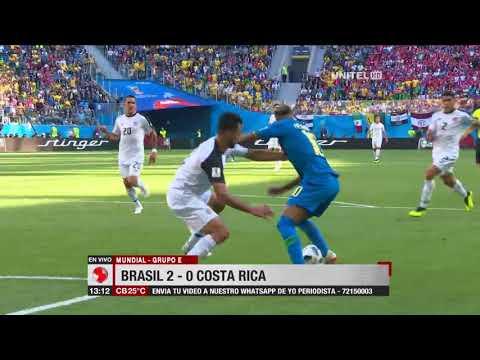 Mundial, Grupo E: Brasil 2 – 0 Costa Rica