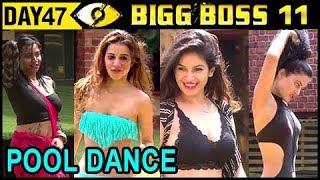 Hina, Bandgi, Benafsha, Arshi H0t BIKINI Dance In Pool   Bigg Boss 11 Day 47   17th Nov 2017 Update