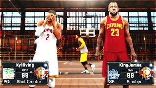 NBA SUPERSTARS LEBRON JAMES AND KYRIE IRVING EXPOSED AT MYPARK!! BREAKING KYRIES ANKLES!!