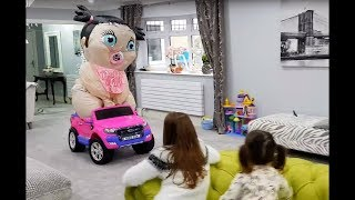 Emily Playing with Giant Baby- Feeding baby doll