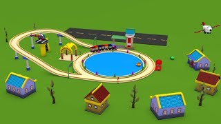 Toy train videos for children - Police Cartoon - cartoon for kids - chu chu train - Cartoon