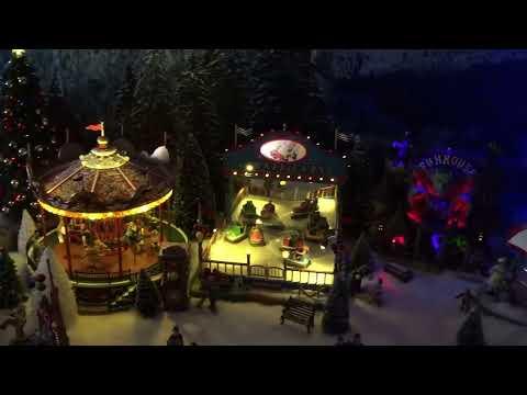 Lemax Luville Village de Noel Christmas 2016 de jour