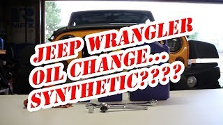 2012 Jeep Wrangler Unlimited Sport Oil Change, Oil Filter - maintenance - Synthetic vs Conventional