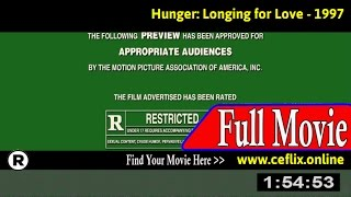 Watch: Hunger: Addicted to Love (1997) Full Movie Online