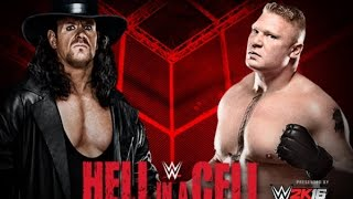 The Undertaker vs Brock Lesnar Hell In A Cell 2015 Highlights
