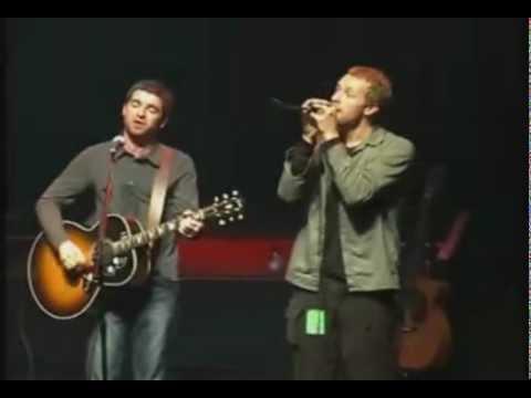 Noel Gallagher Chris Martin Live Forever