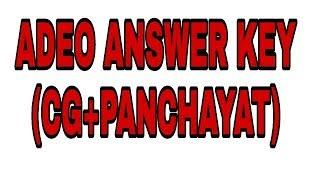 ADEO ANSWER KEY (CG +PANCHAYAT)