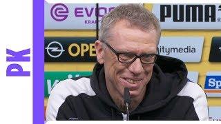 Peter Stöger lacht über Nagelsmann-Gerüchte | Dortmund-PK vor Hoffenheim