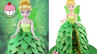 Make a TINKERBELL Fairy Princess SURPRISE PINATA Cake! A Cupcake Addiction How To Tutorial