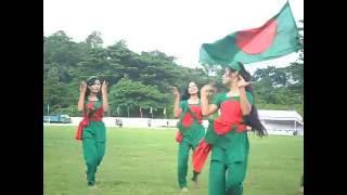 jole utho bangladesh by arfin rumi - জলে ওঠো বাংলাদেশ গানের সাথে পাহাড়ি মেয়েদের নাচ