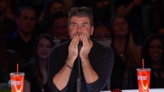 Richie the Barber Circus Clown Tattooed Clown Scares Simon Cowell   America's Got Talent 2016