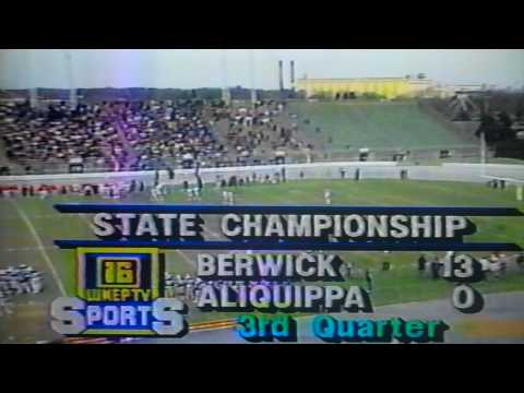 Berwick Bulldogs vs. Aliquippa Quips 1988 PA State Championship Football Game