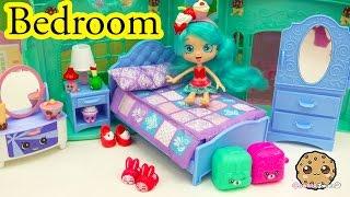 Shoppies Doll Jessicake Bedroom + Shopkins Season 5 Blind Bag Unboxing - Cookieswirlc Video