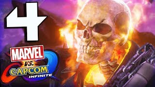 Marvel Vs Capcom Infinite Story Part 4 Ghost Rider Battles Morrigan