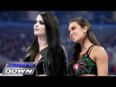 Xxx Mp4 AJ Lee Paige Unite In A War Of Words With The Bella Twins SmackDown March 26 2015 3gp Sex