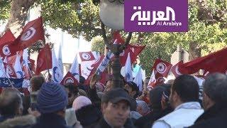تظاهرات وإجراءات أمنية مشددة في شارع الحبيب بورقيبة في الذكرى السابعة لثورة الياسمين
